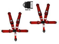 Simpson 3x3 Latch & Link Harness Seat Belts Bolt In Red W/Black Hardware