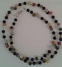 Collier * Halskette * verschiedene Edelsteine * multistone, bunt * Kette * C393