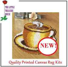 Tea Cup Latch Hook Rug Kit - *NEW* everything included
