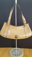 Guess Patent Leather Handbag - Small/Med - Pre Owned Tan Color Silver Hardware