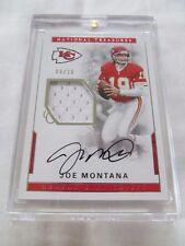 2016 National Treasures FB MATERIAL SIGNATURES #27 Joe Montana ON CARD #8/10 !!!