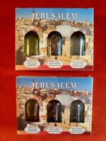 2 Blessed Holy Water Jordan River Set ,Jerusalem Soil in a box,Anointing Oil