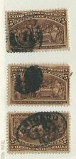 US # 234 ; Used; HM - HR ; See Descr; Very Good  Ctr; CV $ 28.50 (3 Stamps)