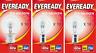 10 Eveready Eco Halogen Clear Golf Light Bulb Bayonet B15 B22 E14 E27 LONG LIFE