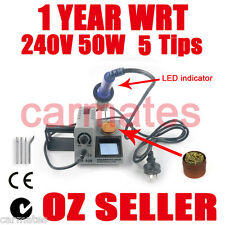 SOLDERING IRON STATION 50W for Lead light window CE RoHS 1 year WRT SYD 5 tips