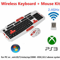 Gaming Wireless 2.4G Keyboard & Mouse Set Kit for Computer PC Multimedia Gamer🔥