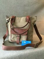 "Waxed Canvas Tote Bag Goat Leather WC-TOTE-P Pocket Handmade 13"" Laptop YKK Zip"