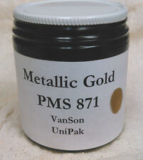 VanSon PMS 871 Metallic Gold Unipak Oil Based Ink for Printing Press (3.5oz.)