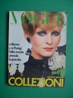 Vogue Italy March 1975 March Collezioni High Fashion Paris Chanel Julie Christie