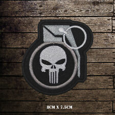 Punisher Super Hero Movie Embroidered Iron on Patch Sew On Badge