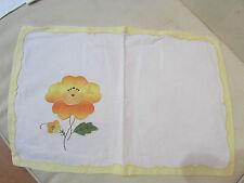 ancien napperon decor floral application