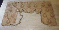 ancien cantonniere chateau tissu façonné tapisserie style 18e bouquet fleur