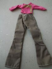 BARBIE CLOTHES PINK TOP AND BROWN TROUSERS with free pair shoes
