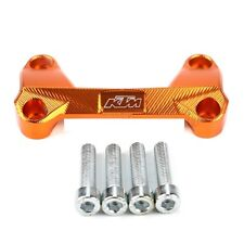 UN SUPPORT PONTET DE GUIDON COULEUR ORANGE NEUF POUR KTM 125 200 390 DUKE