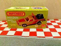 1987 MATCHBOX SUPERFAST MB 17 RED DODGE DAKOTA ST NEW ON CARD