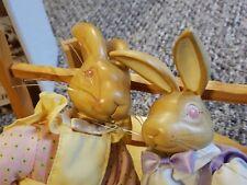 "Nib Robert Raikes Easter 1991 Bunnies Rabbit The Hopkins Wood Original 12"""