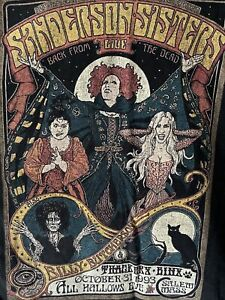 The Sanderson Sisters Live '93 Back From The Dead T-Shirt Size XL