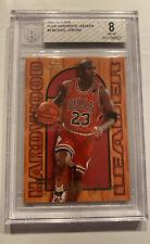 Michael Jordan BGS 8 Fleer Flair Hardwood INSERT 1995 #4 LAST DANCE Chicago Bull