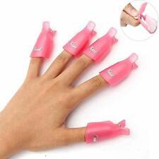 10 PCS Nail Polish Remove Clip Soak Off Tool Plastic Clean Cap UV Gel US Stock