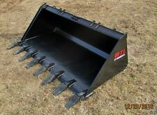 MTL attachments HD 72 Tooth-Dirt Bucket Quick attach skid steer Bobcat-Ship $149