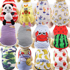 Cartoon Small Dog Clothes Pet Puppy Net Vest Dog Cat Apparel 28 Colors Xs-Xxl