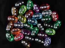 500pcs Transparent Assorted Silver Spot Oblong Acrylic Beads 10mm