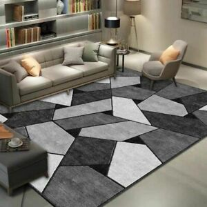 Geometric Printed Carpet Rug For Living Room Washable Bedroom Large Area Rugs