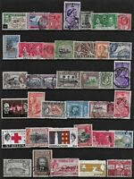 British Colonies 38 mainly KGV, KGVI and QEII - Used Stamps