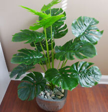 Artificial Turtle Leaf Palm Bush Tree Plants (18 stems)