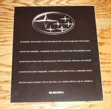 Original 1994 Subaru Full Line Foldout Sales Brochure 94 Legacy Impreza