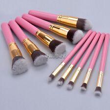 10 pcs Pinceles de Brocha Cepillo Pincel Maquillaje Cosmético Makeup Brushes Set