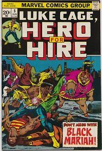 Luke Cage, Hero for Hire #5  8.0  -KEY- 1st Black Mariah