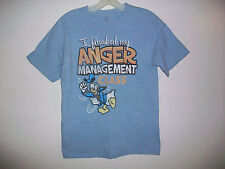 Women's Size Small DONALD DUCK I Flunked Anger Management Class Short Sleeve Top