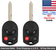 2x New Replacement Keyless Entry Remote Key Fob Case For Ford Lincoln - Shell