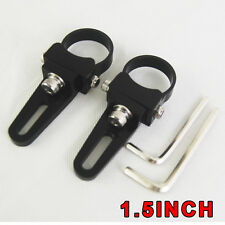 Pair 1.5 Inch bullbar mounting bracket clamps for LED Driving light bar mount