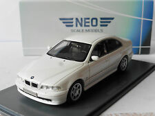 BMW 520I 5ER E39 WHITE 2002 NEO 49528 1/43 WEISS BIANCA BLANCHE SERIES 5 BLANC