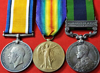 WW1 AFGHANISTAN 1919 MEDAL GROUP TO PTE H BROWN. R.W. KENT CYCLIST BATTALION