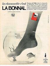 PUBLICITE ADVERTISING   1964   LA BONNAL  chaussettes