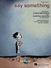 Say Something Sheet Music Easy Piano Book A Great Big World Christina  000130471