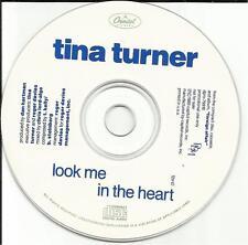 TINA TURNER Look Me in The Heart PROMO Radio DJ CD Single 1989 USA DPRO 79918