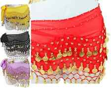 Belly Dance Coin Scarf Hip Scarves Belly Dancing Shimmy Coin Sash - Many Colors