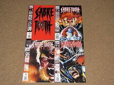 Marvel - SABRETOOTH Death Hunt 1 - 4  Complete Mini-Series!!  1993