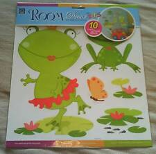Childrens/Kids Frog Bedroom/Baby Nursery Wall Stickers/Stickarounds ~ Brand New