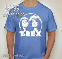 T Rex t shirt Marc Bolan Classic Rock vintage rock music gift bang a gong car bl