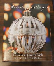 Holiday Magic Ornament candy dish St. George 24% Crystal Christmas