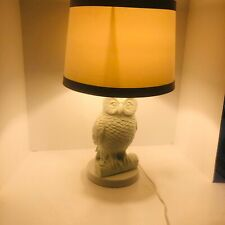 "West Elm white owl table lamp mid century modern 22"" sold out"