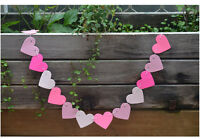 Heart Bunting Banner Wedding Baby Shower Birthday Party Christmas .Decor FO