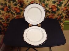 {2} LENOX PRESIDENTIAL COLLECTION HANCOCK PLATINUM DINNER PLATES ~ NEVER USED!