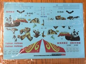 PAS Decals 1/144 Boeing 787-900 Hainan Airlines Kung Fu Panda decals
