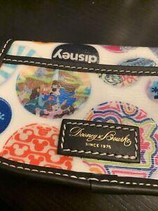 Disney Button Alice Splash Mountain Cats Flap Wristlet Wallet  Dooney & Bourke